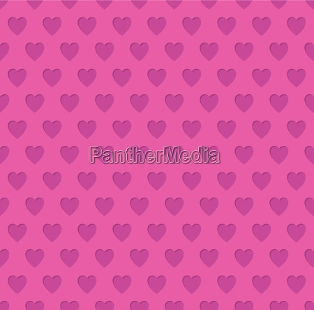 tileable valentines day heart patterned background