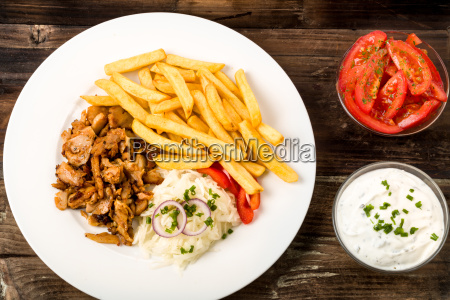 doner with french fries