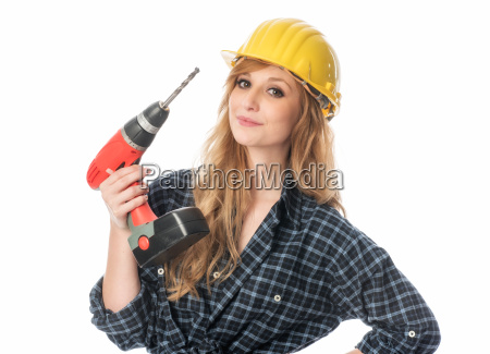 craftsman with drill