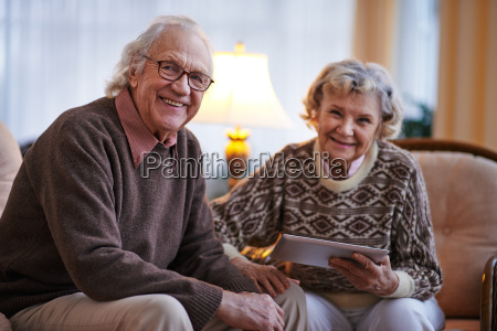 modern senior couple