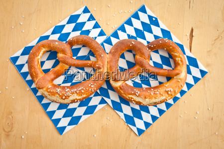 fresh pretzels blue white