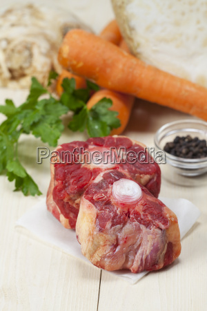 raw oxtail soup ingredients