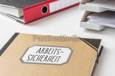 binder with the marking work safety
