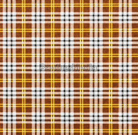 fabric with check pattern in brown