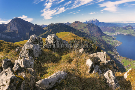 view from niederbauen to pilatus