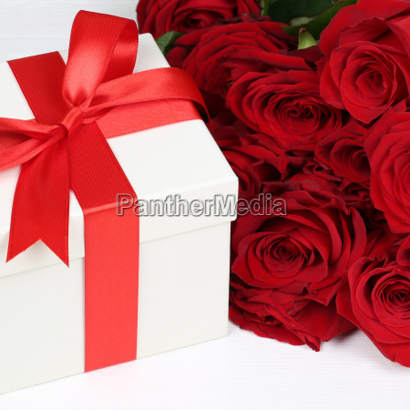 gift box with roses for gifts