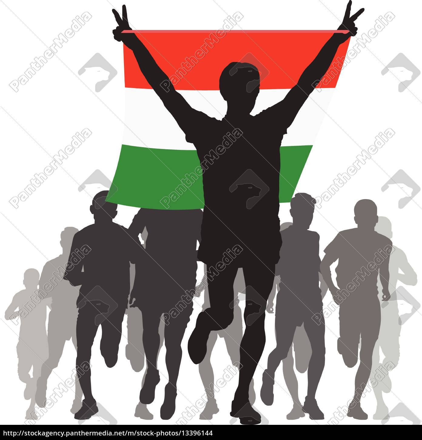 athlete, with, the, hungary, flag, at - 13396144
