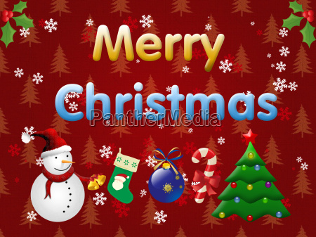 merry christmas illustration on the dark