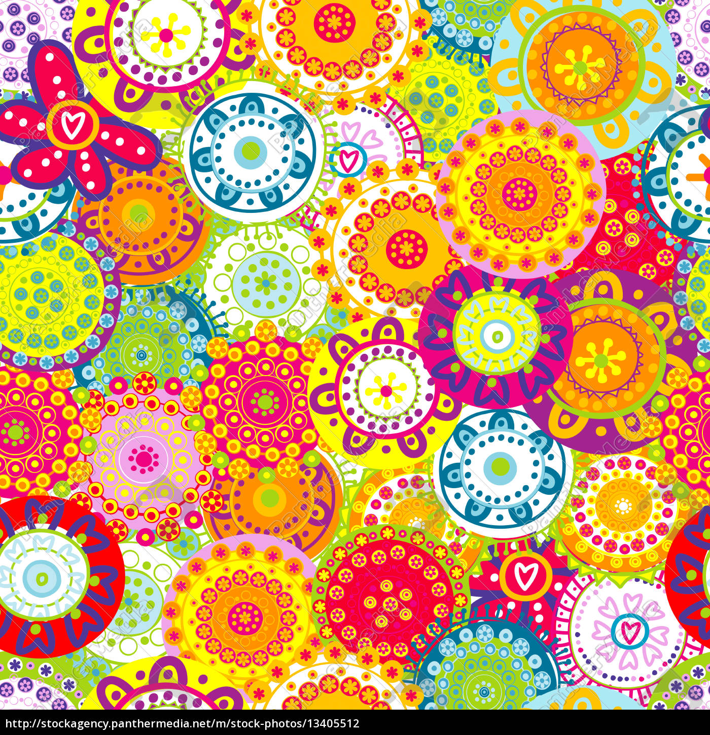 colorful, floral, seamless, background - 13405512