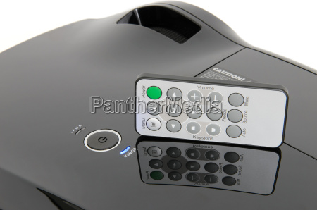 home cinema projector with check card