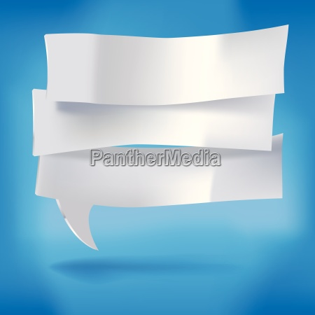 three pieces of paper as speech