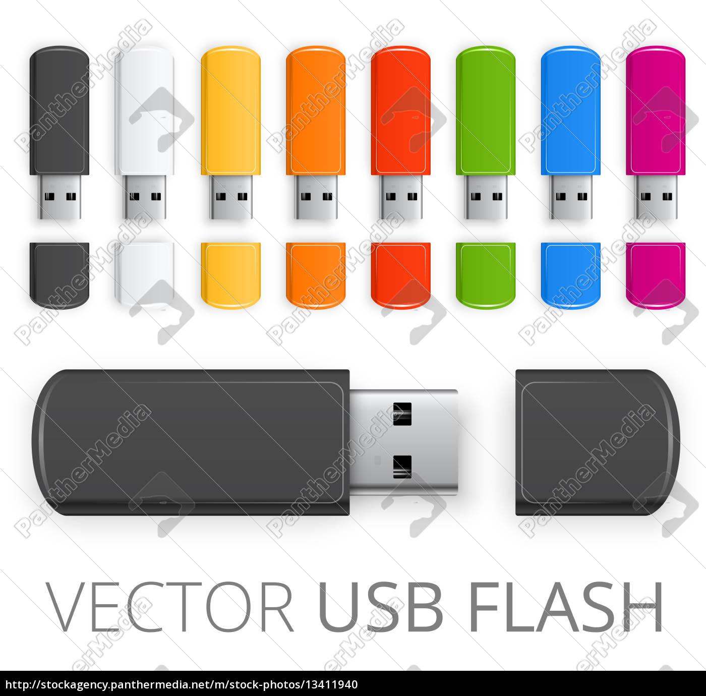 colored, usb, flash - 13411940