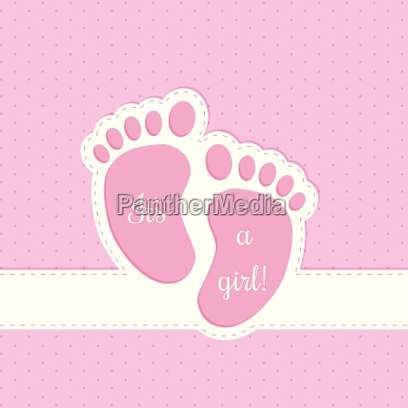 baby shower greeting card invitation