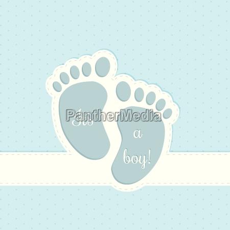 baby shower greeting card invitation design