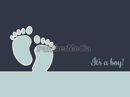 simplistic, baby, shower, greeting, card, in - 13412912