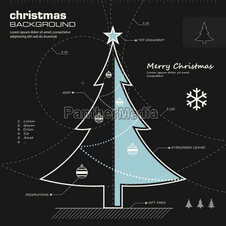 christmas tree design vector background