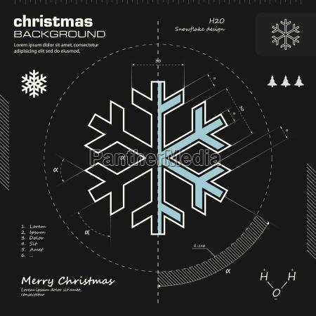 snowflake design vector background