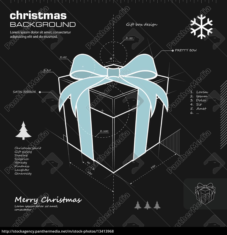 gift, box, design, vector, background - 13413968