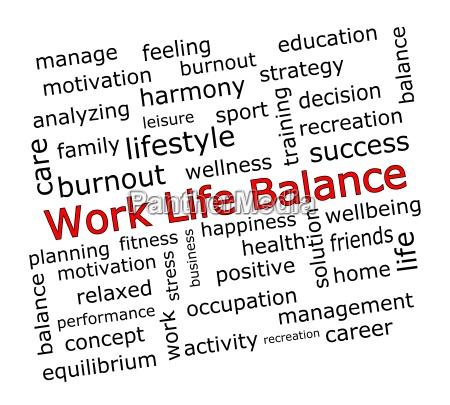 work life balance wordcloud