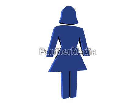 isolated pictogram woman
