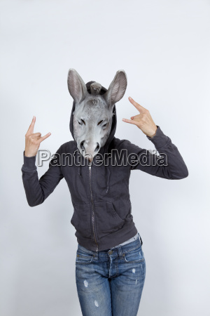 donkey, wearing, a, hoodies - 13422008
