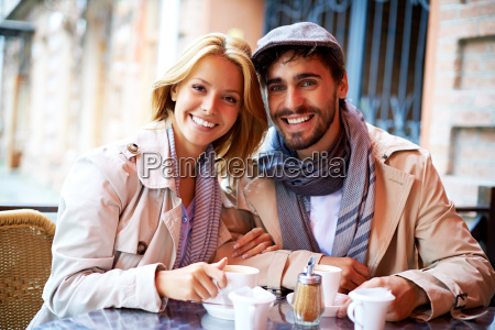dates, sitting, in, cafe - 13423730