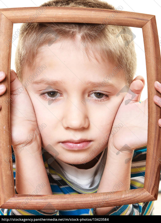 little, sad, boy, child, framing, his - 13423584
