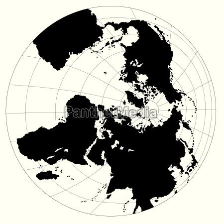 globe antarctic view