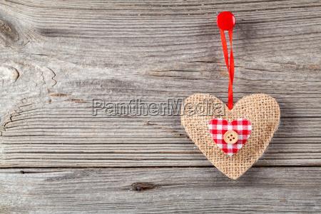 heart, decoration, wooden, background - 13425448