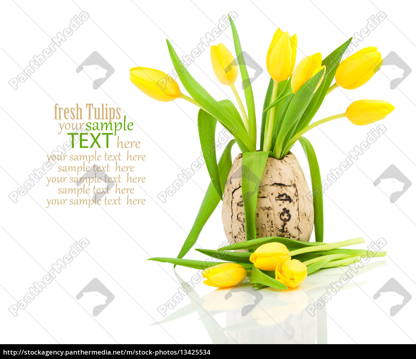 tulips, in, a, vase - 13425534