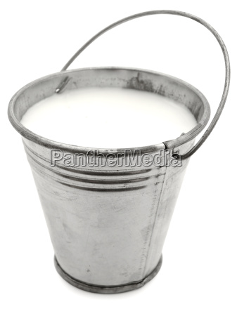 bucket with milk