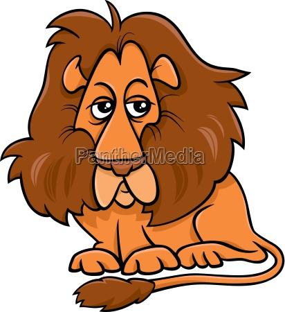 lion animal cartoon illustration