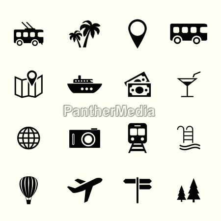 collection of flat icons holiday