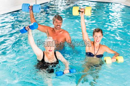 group makes water aerobics aquarobics