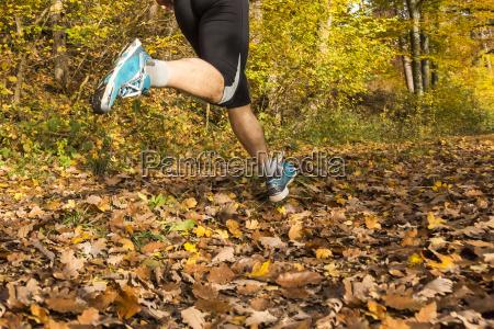 jogger in fall