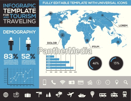 infographic template for tourism traveling and