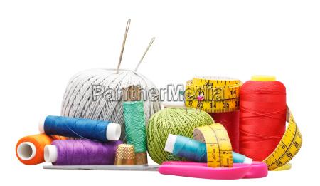 set, of, needlework, objects, isolated, on - 13442646