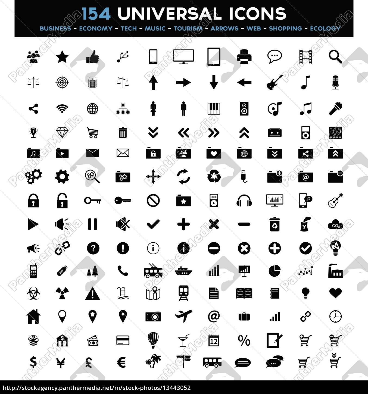 big, set, of, universal, black, flat - 13443052