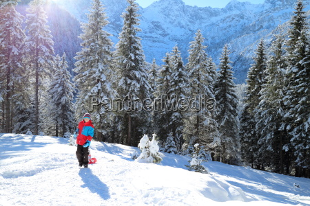 sledging in the alps