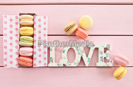 colorful, macaroons, in, box - 13446346