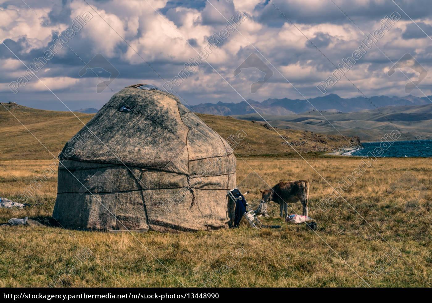 yurts, in, kyrgyzstan - 13448990