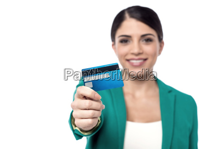 here is your new credit card