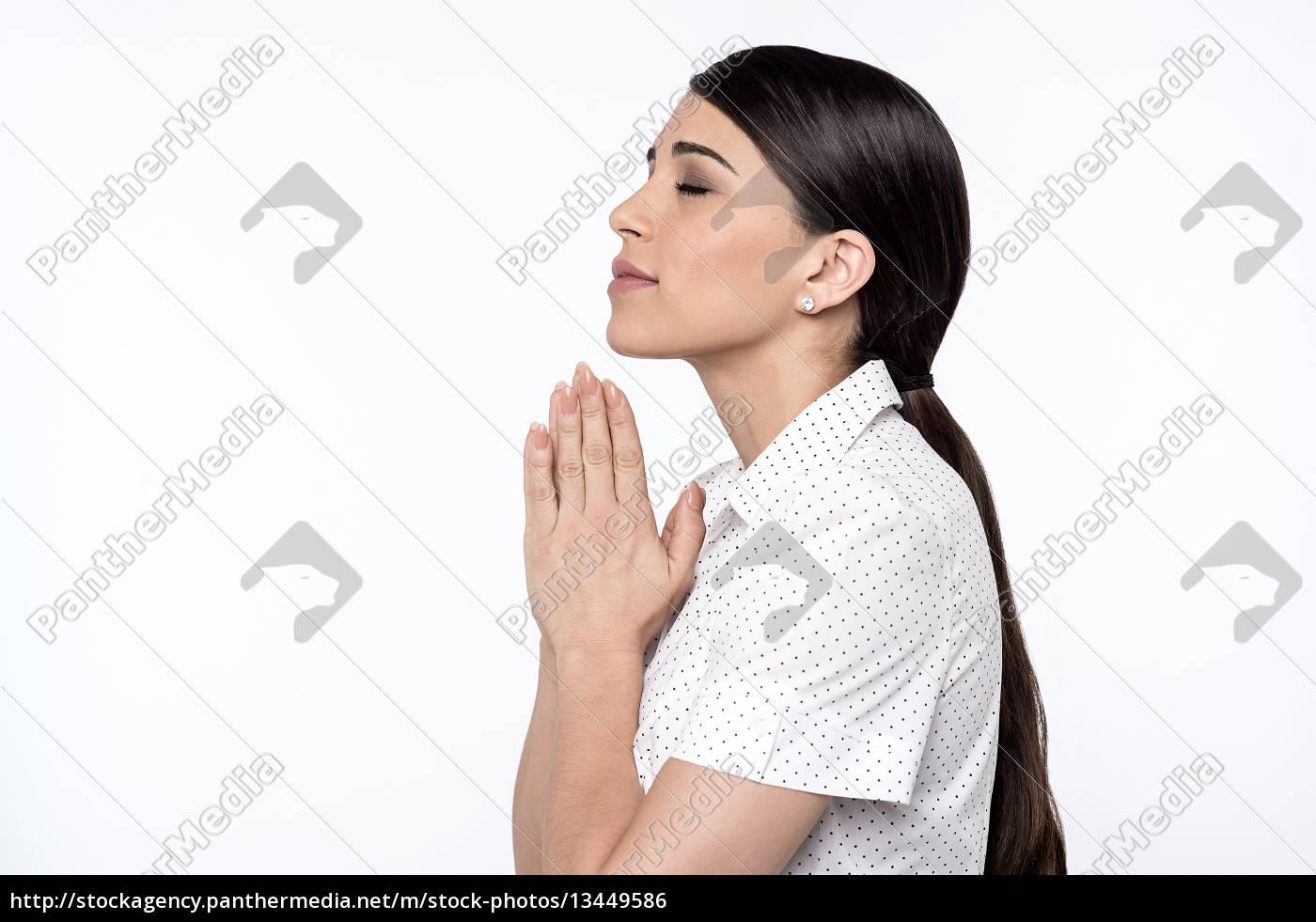 believing, woman, praying, to, god - 13449586