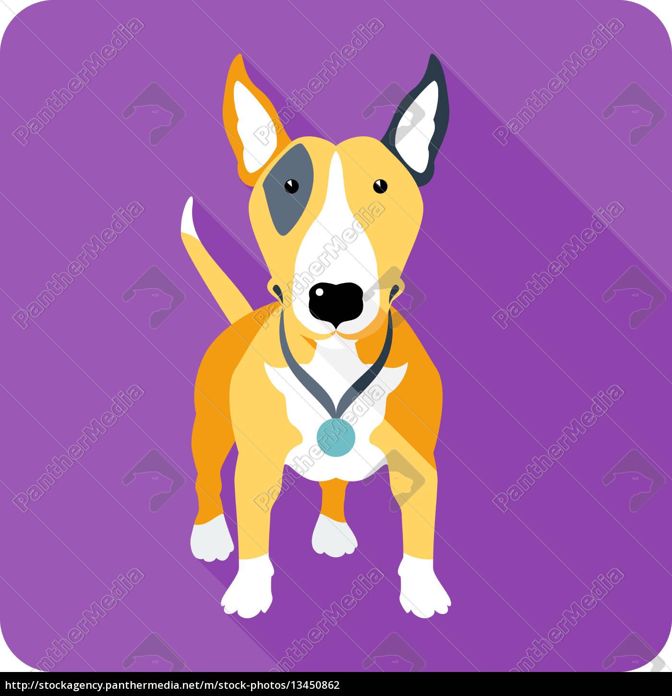 dog, icon, flat, design - 13450862
