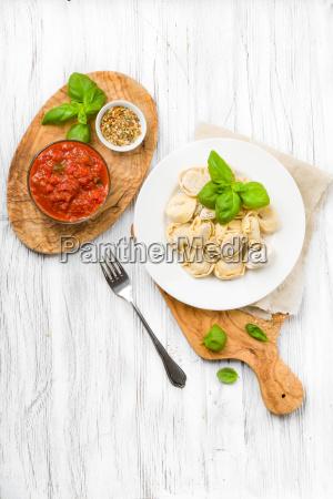 freshly prepared tortellini