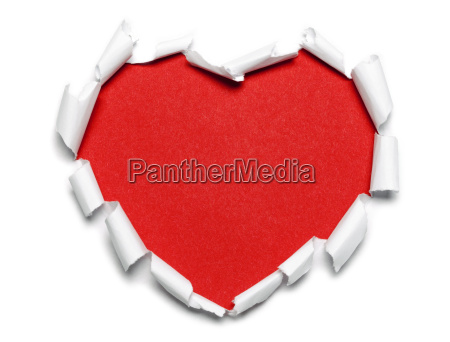 paper heart red