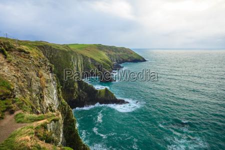 irish landscape atlantic coast coastline county