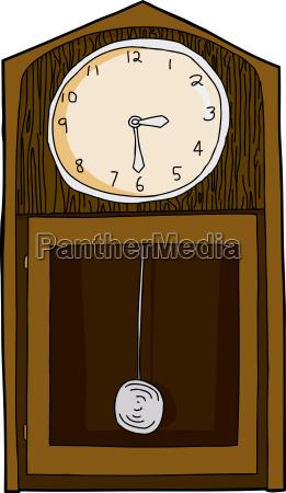 isolated vintage clock