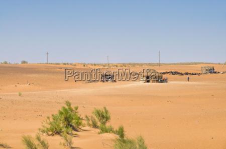 yurt in desert