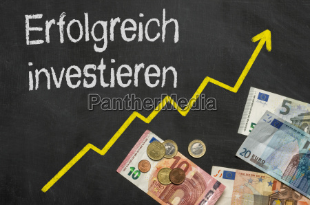 investing successfully plate with money